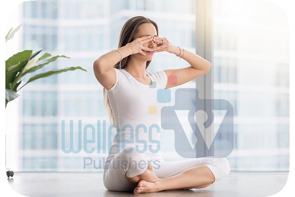 Practicing Yoga - Breathing exercise, Bhramari Pranayama